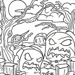 Dessin Qui Fait Tres Peur : coloriage halloween a imprimer qui fait peur gratuit ~ Carolinahurricanesstore.com Idées de Décoration