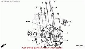 Honda Trx400ex Fourtrax 400 Ex 1999 Usa Cylinder Head