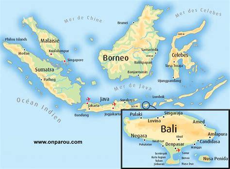 Carte Du Monde Voir Bali by Bali Carte Indon 233 Sie Voyages Cartes