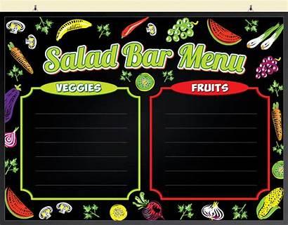 Menu Salad Bar Boards Led Flashing Write
