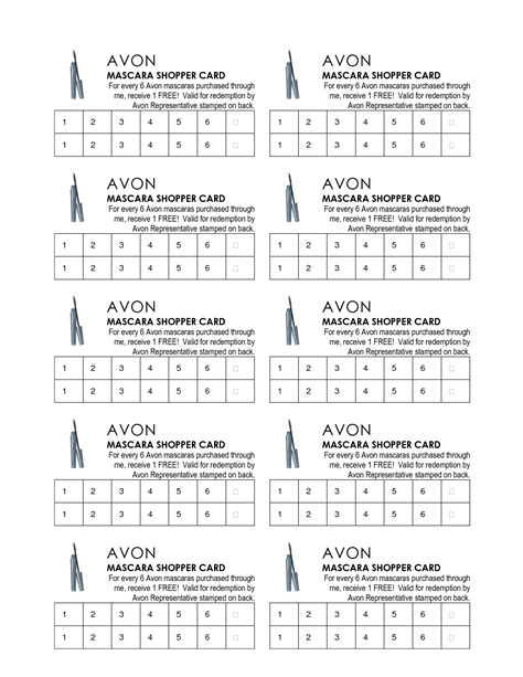 avon flyers charts avon beauty