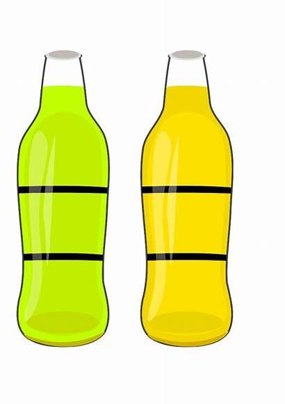 Bottle Bottles Clipart Water Cartoon Soda Clip