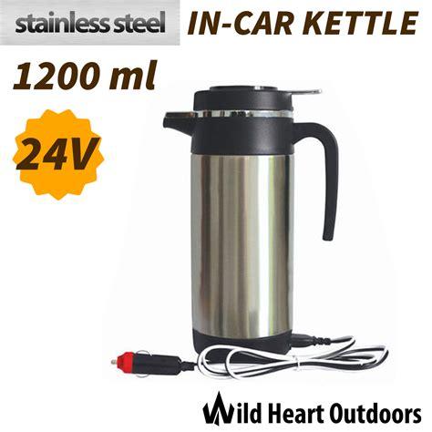 kettle travel 12v camping stainless steel portable 24v 1200ml quality