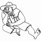 Bored Coloring Man Pages West Printable Getcolorings sketch template
