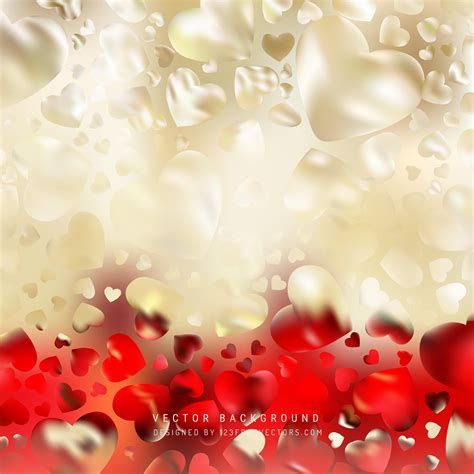 abstract red gold love heart background