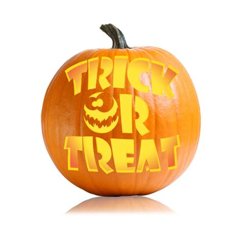 trick or treat pumpkin carving templates free trick or treat easy version pumpkin carving designs