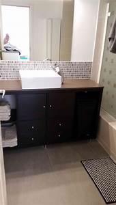Meuble Salle De Bain Pas Cher Ikea : un meuble de salle de bain pas cher avec ikea kallax ~ Teatrodelosmanantiales.com Idées de Décoration