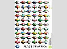Flags Of Africa, Countries, Nations, Colours Stock