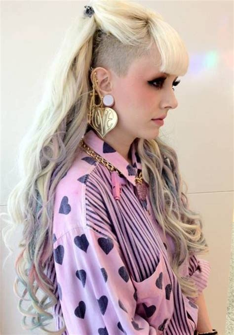 side shaved wavy punk hairstyles for women hair hair