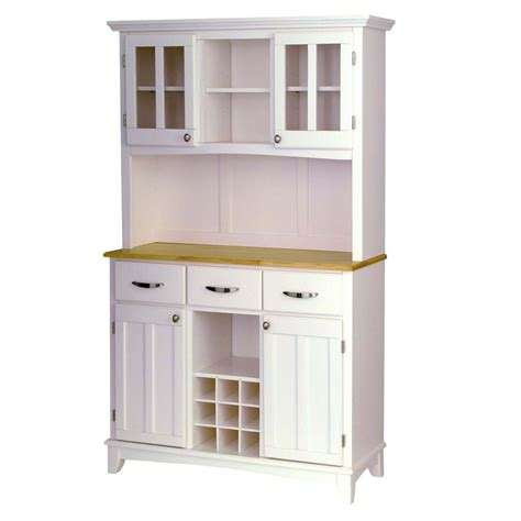 Buffets With Hutch - home styles white and buffet with hutch 5100 0021