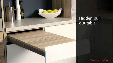 mereway kitchens segreto pull  table youtube