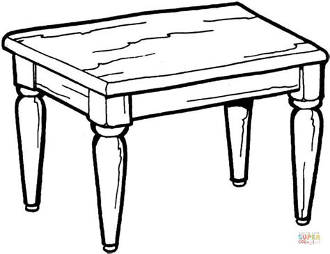 kitchen table coloring page  printable coloring pages