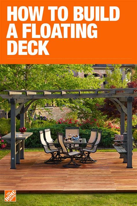 Design Your Own Deck Home Depot by How To Build A Floating Deck The Home Depot Outdoor