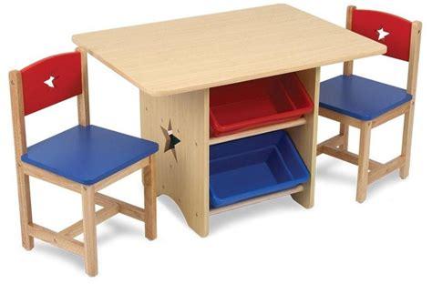 table pour enfant table chaises et bac rangement enfant en bois