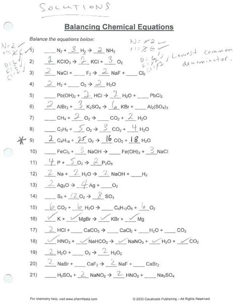 Merely said, the if8767 balancing equations answer key is universally compatible once any devices to read. Balancing Chemical Equations Practice Worksheet Answer Key ...