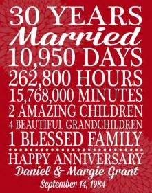 30th wedding anniversary gift 25 best ideas about 30th anniversary gifts on 30th anniversary 30 year anniversary