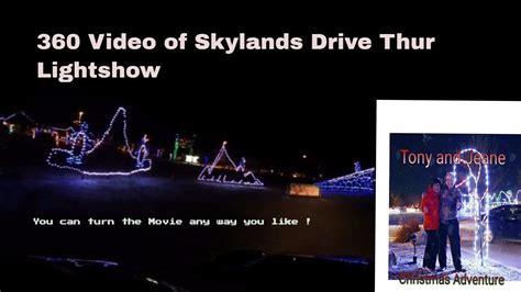 christmas light show skylands stadium video filmed with 360 4k at the 2016 light show at skylands stadium