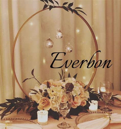 New Wedding Centerpieces Decoration gold color metal round