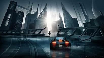 Cyberpunk Silhouette 4k Futurism Wallpapers 1080p Ultrawide