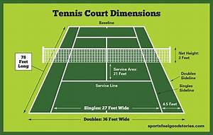 Tennis Court Dimensions  Net Size And Height