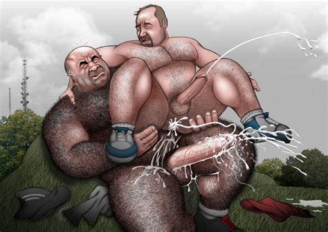 Rule 34 Anal Bald Balls Bara Beard Big Penis Brute By