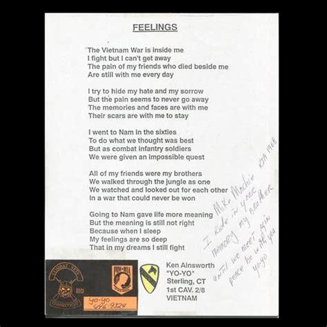 virtual vietnam veterans items left   wall poems