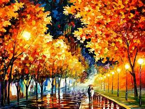 The Fusion Of Colors In Leonid Afremov's Nostalgic Oil ...