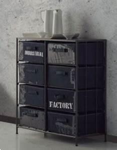 Caisse De Rangement Metal : meuble de rangement en m tal avec caisse en tissu casba 2 ~ Teatrodelosmanantiales.com Idées de Décoration