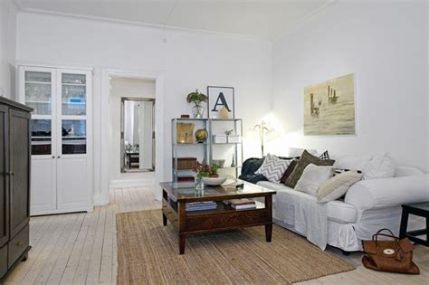 white walls decorating contemporary apartment with white walls and rustic furniture