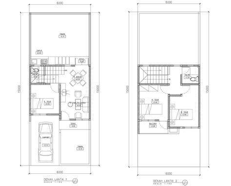 denah rumah  lantai minimalis desain rumah minimalis