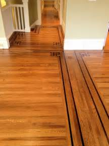 oak stained golden oak color with walnut boarders and