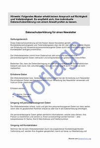 Einverständniserklärung Muster Datenschutz : datenschutz beim newsletter versand i datenschutz 2018 ~ Themetempest.com Abrechnung