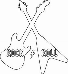 guitar cut out template - dibujos varios on pinterest 3d drawings clip art and