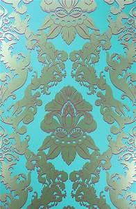 Tapete Türkis Gold : englische tapete osborne little matthew williamson pegasus eden t rkis gold barock ornament ~ Sanjose-hotels-ca.com Haus und Dekorationen