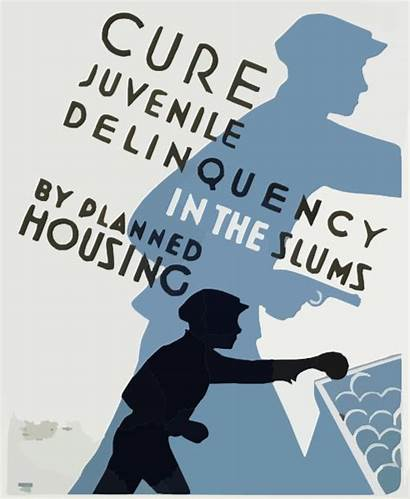 Juvenile Delinquency Housing Cure Slums Planned Poster