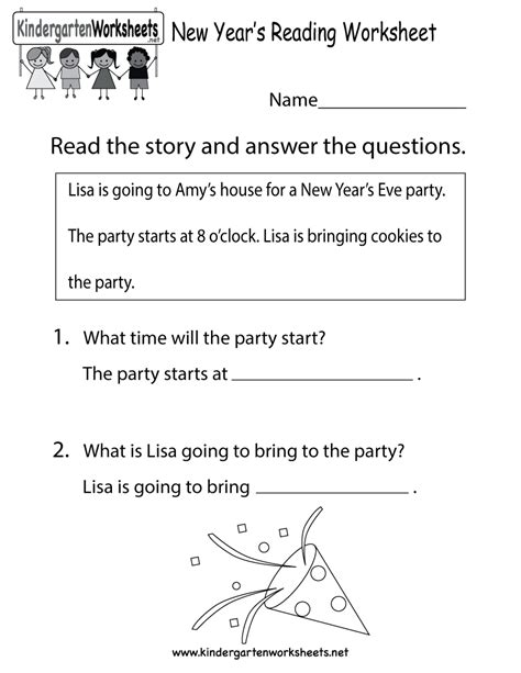 new years day comprehension worksheets search results