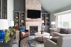 Transitional, Rustic, Living, Room