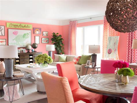 coral color interior design open floor plan decorating ideas how to decorate open