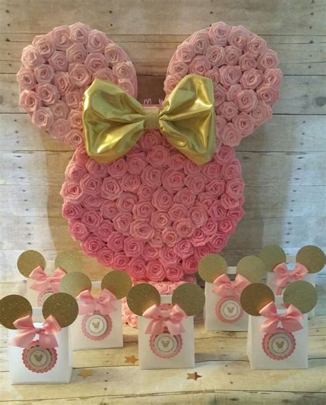 pink  gold minnie mouse pinatagold minnie mouse party