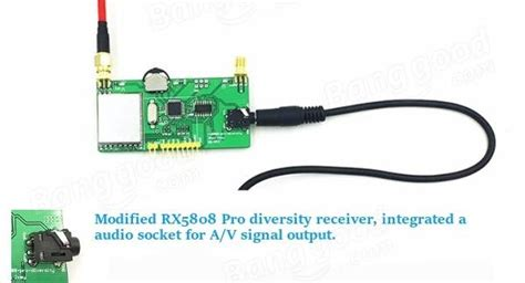 Ge-fpv Rx5808 Pro 5.8g 40ch Diversity Fpv Receiver Oled