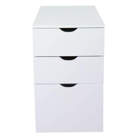 caisson de bureau ikea caisson de bureau 3 tiroirs blanc l30xh70xp70cm gothan