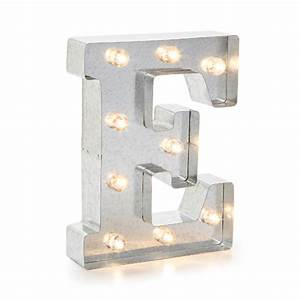 Lighted marquee letters silver light up letter e for Light up letter e