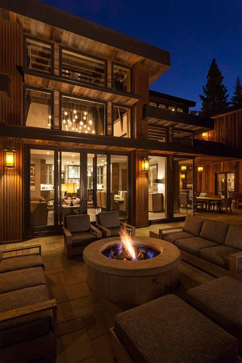 Home With Youthful Aesthetic by Lake Tahoe Getaway Features Contemporary Barn Aesthetic