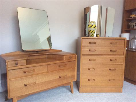 G Plan Brandon Oak Dressing Table And Tallboy Chest Of