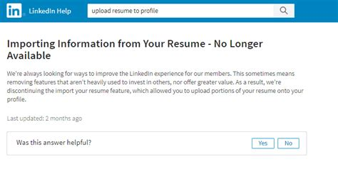 uploading a resume to your linkedin profile