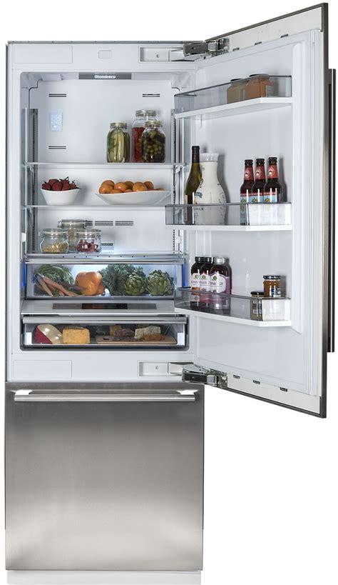 fully integrated built  bottom freezer refrigerator blomberg brfbfbi