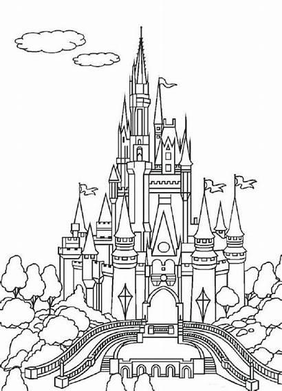 Castle Disney Clipart Printable Kingdom Magic Clip