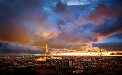 2048x1152 Sunset Over Paris 2048x1152 Resolution Hd 4k
