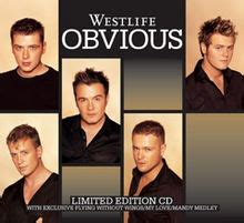 obvious westlife song wikipedia