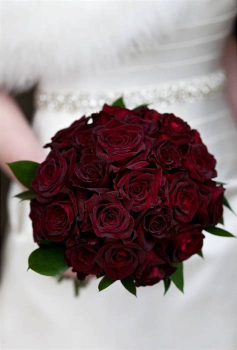 Dark Red Rose Wedding Bouquet Bridal Bouquets And